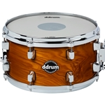 Ddrum Dominion 7x13 Snare Drum in Gloss Natural Finish with Ash Veneer