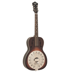 Recording King Size 0 Resonator Guitar, Tobacco Sunburst