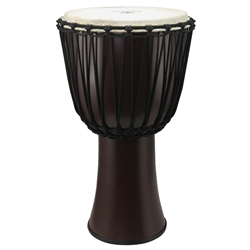 "Tycoon 12"" Fiberglass Djembe, Rope Tuned, Dark Brown Finish"